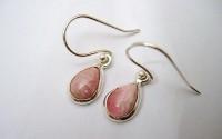 Boucles d'oreille argent et Rhodocrosite.