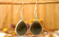 Boucles d'oreille argent et Opale.