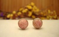 Boucles d'oreilles argent et Rhodocrosite