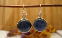 Boucles d'oreille argent et Cyanite.