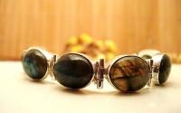 Bracelet en argent et Labradorite.