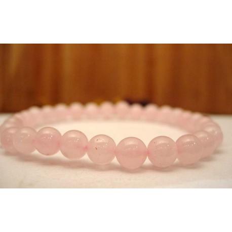 Bracelet en Quartz rose.