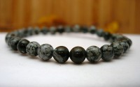 Bracelet en Obsidienne mouchetée.