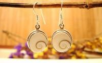 Boucles d'oreilles argent et Oeil de shiva