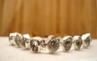 Bracelet en argent et Diamant d'herkimer.
