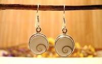 Boucles d'oreilles argent et Oeil de Shiva.