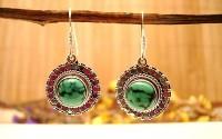Boucles d'oreilles argent et Turquoise.