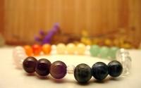 Bracelet chakra en Pierre multicolore.