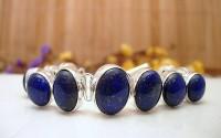 Bracelet argent et Lapis lazuli.