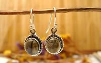 Boucles d'oreille en argent et Labradorite.