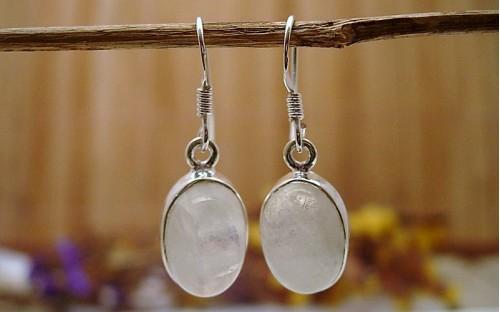 boucles d 39 oreille indiennes en argent et pierre de lune bijou finement travaill. Black Bedroom Furniture Sets. Home Design Ideas