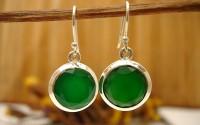 Boucles d'oreilles Onyx vert