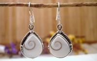 Boucles d'oreille argent et Oeil de Shiva.