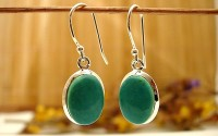 Boucles d'oreille argent et Turquoise.