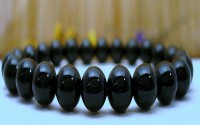 Bracelet en Onyx noire.