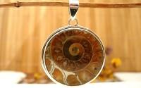 Pendentif en argent et Ammonite promoceras