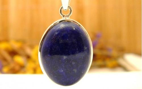 Pendentif Lapis En Lazuli Argent Et A3L54Rj