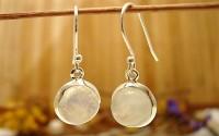 Boucles d'oreilles en argent et Pierre de lune.
