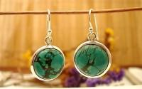 Boucles d'oreille en argent et Turquoise.