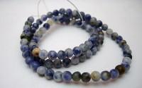 Lapis lazuli pierre percée 4mm.