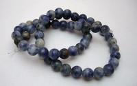 Lapis lazuli pierre percée 6mm.