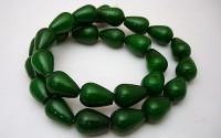 Green jade pierre percée 10X14mm.