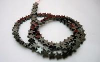 Hématite étoile pierre percée 6mm.