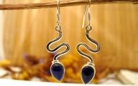 Boucles d'oreille argent et Lapis lazuli.