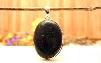 Pendentif en argent et Black opale