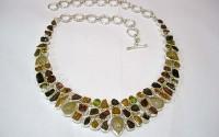 Collier argent et pierres Multicolore.